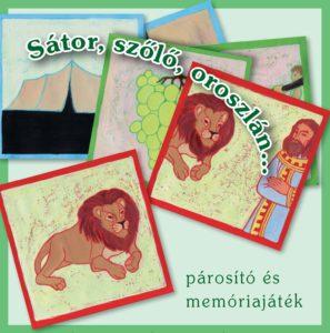 Sátor, szőlő, oroszlán... - bibliai párosító és memóriajáték